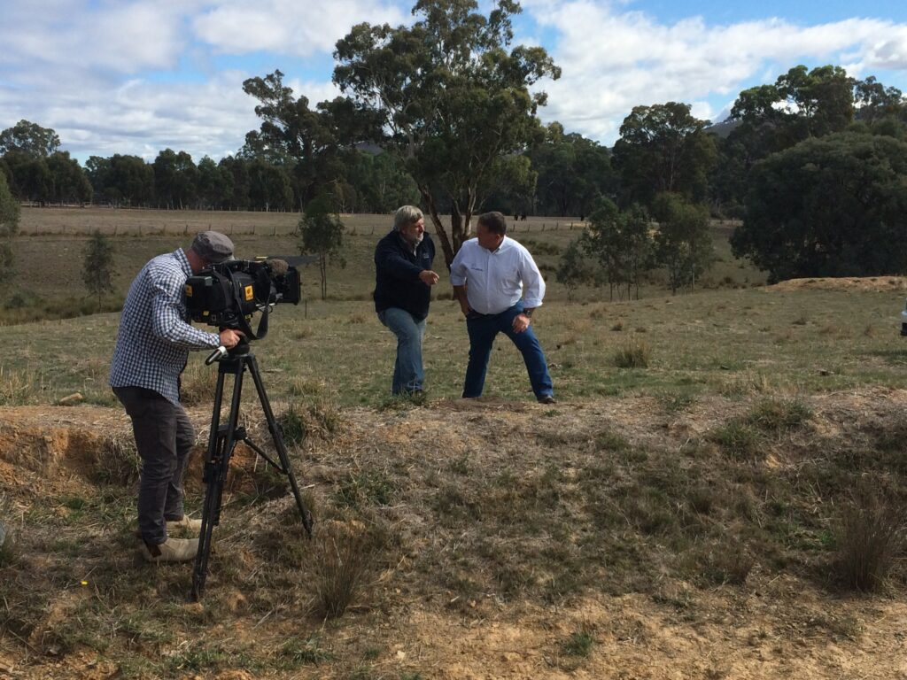 ABC Landline filming the story